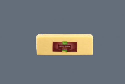 Mature Cheddar Block 8 x 2.5kg (available in red & white cheddar)