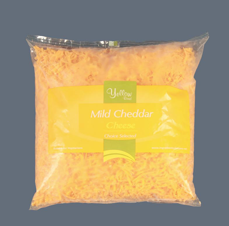 graded cheddar - mild red - wholesale