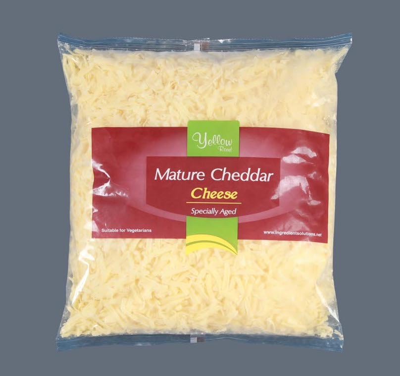 grated cheddar white mature cheddar
