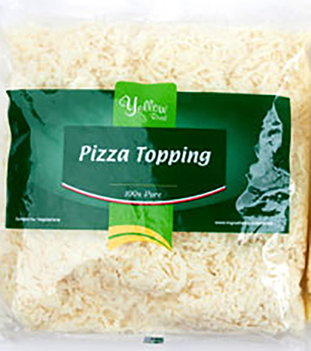 pizza topping by yellow road