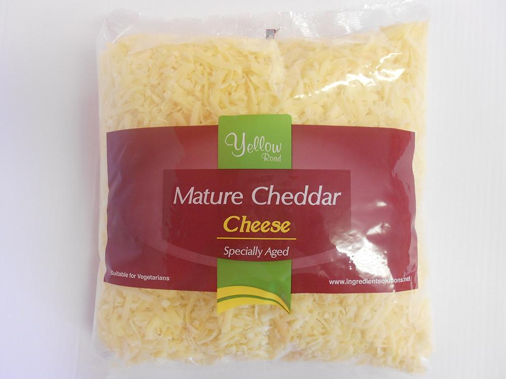 mild grated cheddar