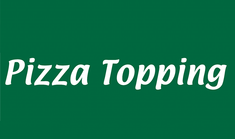 Yellow Road Pizza Topping